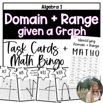 Identifying Domain and Range from a Graph (Task Cards)