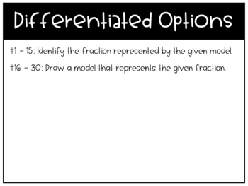 Identifying & Drawing Fractions Task Cards