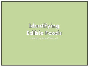 Identifying Edible Foods - For Children who suffer from Pica
