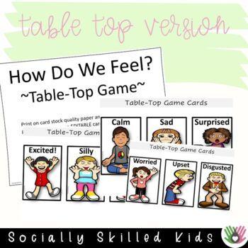 UNDERSTANDING EMOTIONS  How Do We Feel? {Floor Game & Table-Top Game}
