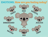 "Identifying Emotions Poster ""How are you feeling today?"" 8 1/2 x 11"