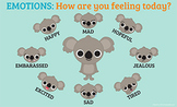 "Identifying Emotions Poster ""How are you feeling today?"" 8 1/2 x 14"