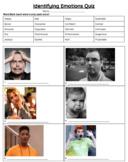 Identifying Emotions Quiz