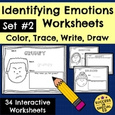 Identifying Emotions Worksheets Social Emotional Learning Distance Learning