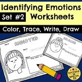 Identifying Emotions Worksheets Social Emotional Learning