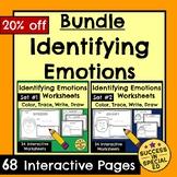 Identifying Emotions Worksheets for Social Emotional Learning Bundle