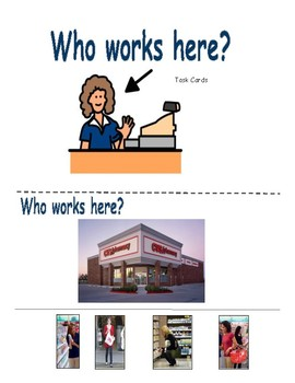 """Identifying Employees """"Who Works Here?"""" Task Cards"""