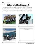 Identifying Energy Worksheet