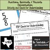 Identifying Equivalent Fractions, Decimals, and Percents (