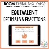 Identifying Equivalent Fractions and Decimals Boom Cards