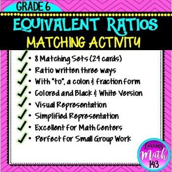 Identifying Equivalent Ratios Matching Activity