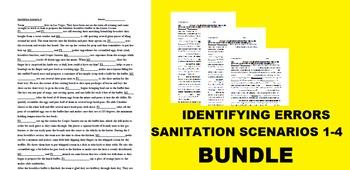 Identifying Errors Sanitation Scenarios 1-4 Bundle: Customize with your Students