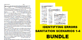 Identifying Errors Sanitation Scenarios 1-4 Bundle: Custom