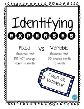 Identifying Expenses (Fixed or Variable)