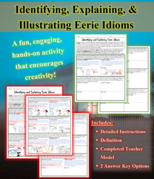 Eerie Idioms: Identifying, Explaining, and Illustrating