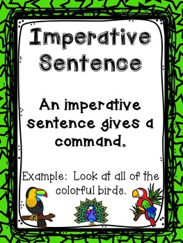 Identifying, Exploring, and Writing the Four Types of Sentences