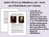 Identifying Federalist and Antifederalist Ideas - US History/APUSH