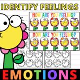 Identifying Feelings And Emotions Spring Flower Worksheets