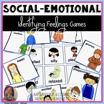 Identifying Feelings Card Game for Speech Therapy