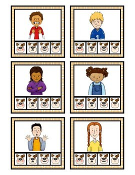Identifying Feelings: Flash Cards Puppy Themed