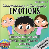 Identifying Feelings and Emotions, BOOM Cards Speech Therapy, Behavior