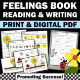 Identifying Feelings and Emotions Little Book Worksheets Distance Learning