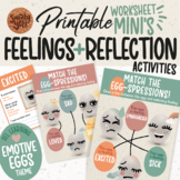 Identifying Feelings and Emotions Worksheets | Student Self Reflection Activity