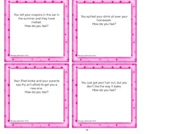 Identifying Feelings in Situations _ Telling How You Feel Cards & Game