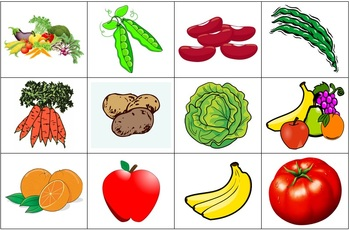 Identifying Foods and Meals Flash Cards + Vocabulary List in Spanish (Comida)