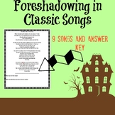 Identifying Foreshadowing in Classic Songs with answer key