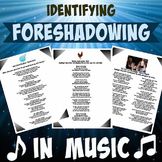 Identifying Foreshadowing in Songs with answer key