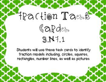 Identifying Fraction Task Cards 3.NF.1