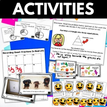 Third Grade Identifying Fractions