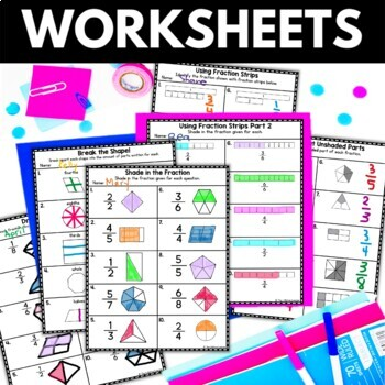 Identifying Fractions - Fraction Worksheets Activities Games