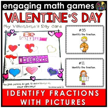 Valentine's Day Identifying Fractions Game