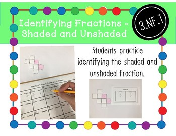 Identifying Fractions Activity: Shaded and Unshaded