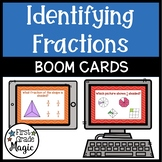 Identifying Fractions up to Twelfths Boom Cards for Distan