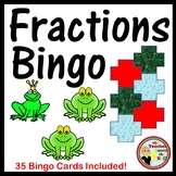 Fractions - Identifying Fractions Bingo (Classroom Activity w/ 35 Bingo Cards!)