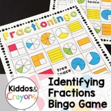 Identifying Fractions Bingo Game