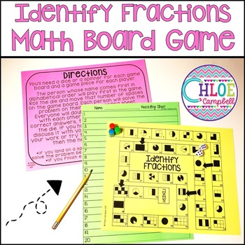 Identifying Fractions Board Game