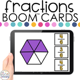 Identifying Fractions Boom™ Cards - Distance Learning for