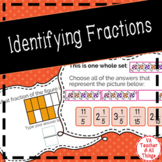 Identifying Fractions Boom Cards SOL 3.2