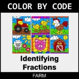 Identifying Fractions - Color by Code / Coloring Pages - Farm