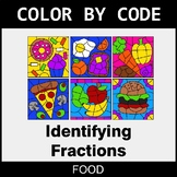 Identifying Fractions - Color by Code / Coloring Pages - Food