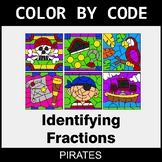 Identifying Fractions - Color by Code / Coloring Pages - Pirates