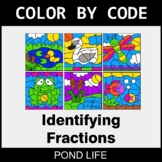 Identifying Fractions - Color by Code / Coloring Pages - P