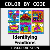 Identifying Fractions - Color by Code / Coloring Pages - T