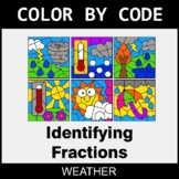 Identifying Fractions - Color by Code / Coloring Pages - Weather