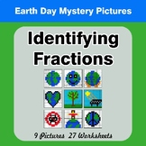 Identifying Fractions | Earth Day Math Mystery Picture Worksheets