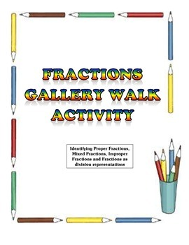 Identifying Fractions Gallery Walk - Math Activity